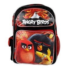 2016 New Angry Birds 16' Canvas RED School Backpack. #Angry #Birds #Canvas #School #Backpack