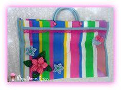 Resultado de imagem para sacola de feira decorada