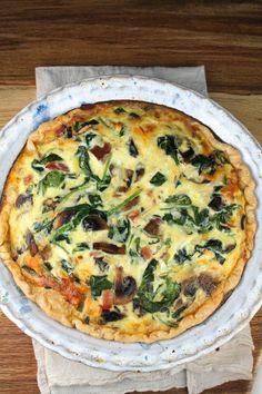 Ham, Spinach & Mushroom Quiche