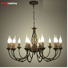 151.64$  Buy now - http://ali149.worldwells.pw/go.php?t=32681153381 - European chandeliers wrought iron complex classical bedroom lighting fixture lamp minimalist 110-240V Black / white / Bronze 151.64$