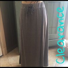 FINAL PRICENWTDRAWSTRING SKIRT SZ O/S NETLONG GREY DRAW STRING SKIRT IN O/S which fits sizes XS-med Skirts Maxi