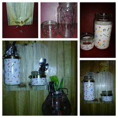 frascos de vidrio decorados para organizar