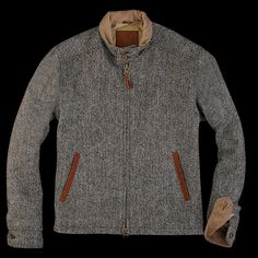 Harris Tweed - Golden Bear Barracuda in Charcoal Herringbone Harris Tweed, Sharp Dressed Man, Well Dressed Men, Mein Style, Tweed Jacket, Men Dress, Style Me, Personal Style, Men Sweater