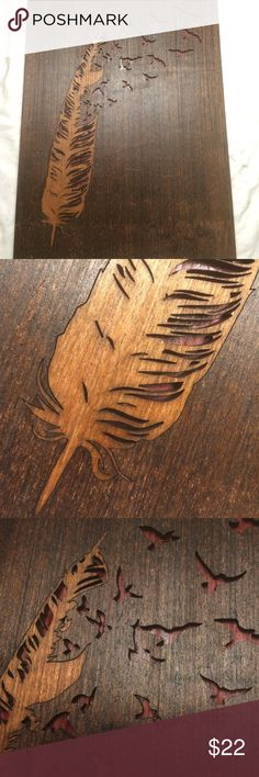 """Super Deal!: Feather Wall Art!!! Beautiful 10.5"""" x 14"""" Very Beautiful custom Other"""