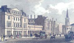 """London: Langham Place"" Old Antique Print. #ebay #prints   I love what this seller offers! I have a few prints from her."