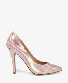 Pointed Hologram Pumps   FOREVER21 - 2021063215 ROMY & MICHELLE SHOES... only, I don't know what color I'd get
