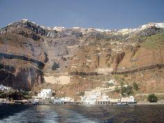 Llegando a Santorini. Corría el año 2002...