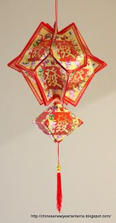 We can add varieties in the making of Ang Pow Lanterns for Chinese New Year. I combined my Spaceship Ang Pow Lantern & Diamond Ang Pow . Chinese New Year Decorations, New Years Decorations, Origami Lantern, Handmade Lanterns, Chinese Party, New Year Diy, Chinese New Year Crafts, Origami Paper Art, Paper Craft