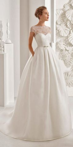 aline illusion with sweetheart rosa clara wedding dresses - Wedding - Mariage Robe Rosa Clara Wedding Dresses, Pink Wedding Dresses, Wedding Dress Trends, Princess Wedding Dresses, Wedding Dress Styles, Designer Wedding Dresses, Bridal Dresses, 2017 Wedding, Event Dresses