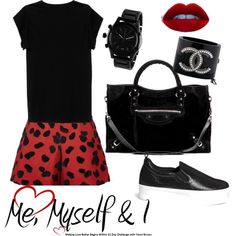 Me, My self and I ❤️ by mamagez21 on Polyvore featuring polyvore, fashion, style, Isabel Marant, VIVETTA, Pedder Red, Balenciaga, Nixon and Chanel