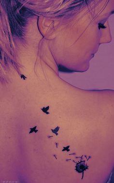 dandelion to birds tattoo - Google Search