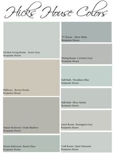 Interior Paint Color and Color Palette Ideas with Pictures