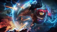 Riot Blitzcrank Skin League of Legends champion wallpaper. Find more HD LoL desktop backgrounds in our wallpapers gallery. League Legends, Riot Points, Legend Images, Lol Champions, Game Info, Riot Games, Gaming, Create Animation, Wallpaper Gallery