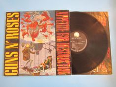 GUNS N' ROSES Appetite For Destruction 1987 GEFFEN RECORDS BANNED COVER VINYL LP