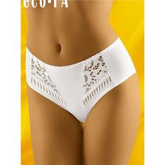 Figi Eco-Fa White model Perfect marriage classics with a sensual note. Beautiful, openwork, slightly translucent pattern on the hips and higher fashion. Figs lie nicely and allow for full comfort. Our determined favorite this season! https://www.cosmopolitus.com/figi-figi-model-ecofa-white-p-217413.html?language=en&pID=217413#Womens #panties #white #openwork #lace #comfortable #elegant #high #comfort #state