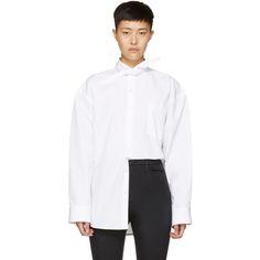 Balenciaga - White Poplin Scarf Shirt