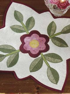 Old Fashioned Rose Candle Mat