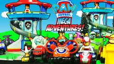 PAW PATROL MEGA ADVENTURES - Hide and Seek Race Day While Stopping the J...