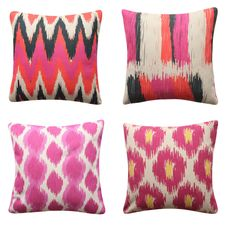 Pink Purple Cushion Cover Abstract Painting Brushstroke IKAT BOHO Pillow Cover Purple Cushion Covers, Purple Cushions, Ikat, Boho Pillows, Throw Pillows, Geometric Cushions, Brush Strokes, Pink Purple, Decorative Pillows