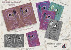"Tarjetas de saludo ""Te espero"" de Arte, Grabado e Ilustración por DaWanda.com"