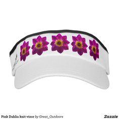 Pink Dahlia knit visor