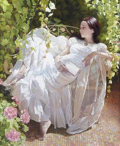 Andrei Belichenko born 1974 in Karaganda, Kazahstan Master Of Fine Arts, Woman Reading, Woman Painting, Illustrations, Beautiful Paintings, Female Art, Book Art, Photos, Inspiration