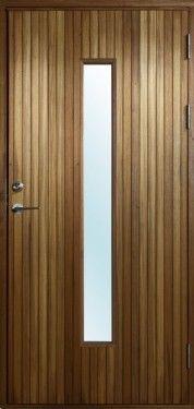 Resö, massiva ytterdörrar i freijo med glas | Bovalls dörrbyggeri