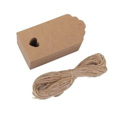 WINOMO Hollow Heart Scalloped Kraft Paper Card Gift Tag with 10M Rope - 100pcs * Be sure to check out this awesome product.