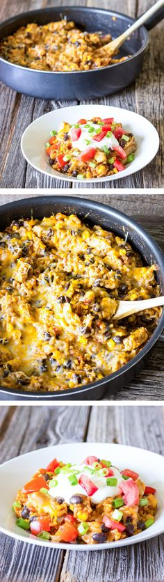 One Pot Wonder Chicken Enchilada Bowls  If the nutrition info given is right this is 7 points per serving.