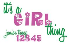 Custom Youth Girl Scout Troop Shirts - Full Color Printed Shirts w/ Your Troop Number. $14.00, via Etsy.