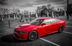 This 2015 Dodge Charger SRT Hellcat is a beast -- 2,000 pounds of barely contained fury.