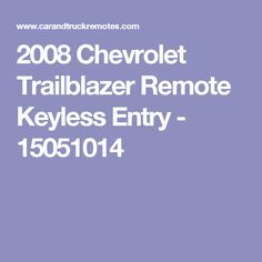 2008 chevrolet trailblazer keyless entry remote 2008 chevy owner 2008 chevrolet trailblazer remote keyless entry 15051014 fandeluxe Image collections
