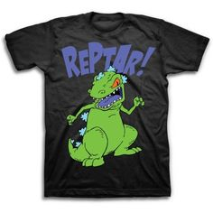 Rugrats Reptar Big Men's Short Sleeve T-shirt, Size: 2XL, Black