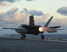 """retrowar: """" Lightning II flight test operations aboard USS Dwight D. Airplane Art, Aircraft Carrier, Military Aircraft, Lightning, Air Force, Fighter Jets, Aviation, The Incredibles, Top Gun"""
