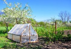 DIY : une serre de jardin fait maison | Gamm vert Easy Garden, Herb Garden, Garden Ideas, Wooden Posts, Small Greenhouse, Tall Plants, Types Of Soil, Plantar, Get Outside