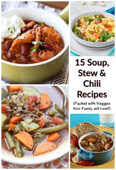 15 Veggie-Packed Soup, Stew and Chili Recipes your family will love! @produceforkids