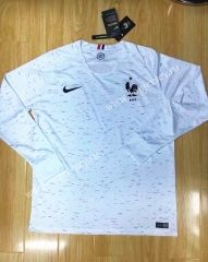 e9010ed44 2018 World Cup France Away White Thailand LS Soccer Jersey AAA