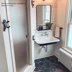 Bathroom decor for your master bathroom remodel. Discover master bathroom organization, bathroom decor suggestions, master bathroom tile ideas, bathroom paint colors, and more. Upstairs Bathrooms, Downstairs Bathroom, Bathroom Renos, Bathroom Interior, Bathroom Wall, Sinks For Small Bathrooms, Bathroom Ideas, Small Basement Bathroom, Vanities