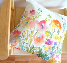 Cool, fresh colors on pillow.