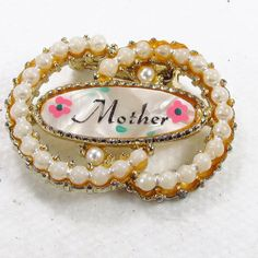 Vintage MOP Mother of Pearl Mother's Day gift faux by jewelry715, $10.00