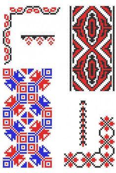 Cross Stitch Borders, Cross Stitch Patterns, Folk Embroidery, Stitch Design, Pixel Art, Toyota, Artwork, Romania, Cross Stitch