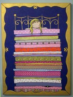 Princess and the Pea print. Cute.