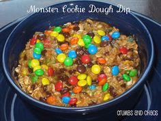 Monster Cookie Dough Dip from Crumbs and Chaos.