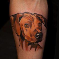 Geometric Dog Tattoo