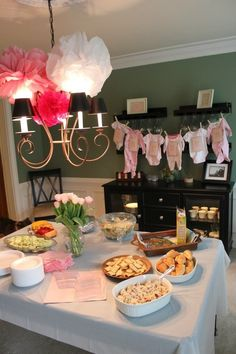Cute Pink Baby Shower but Blue would be better