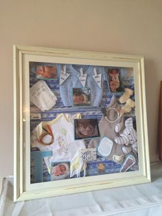 My sons NICU baby shadow box project