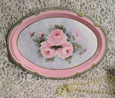 HP Chic Roses Tray Romantic Shabby Cottage by SweetCottageRoses, $44.99