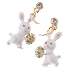 Spring Easter Jewelry Bunny Easter Egg Crystal « Holiday Adds