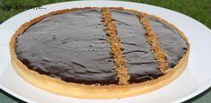 Tarte chocolat sur croustillant praliné