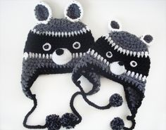 raccoon hats! My kids will wear these one day.